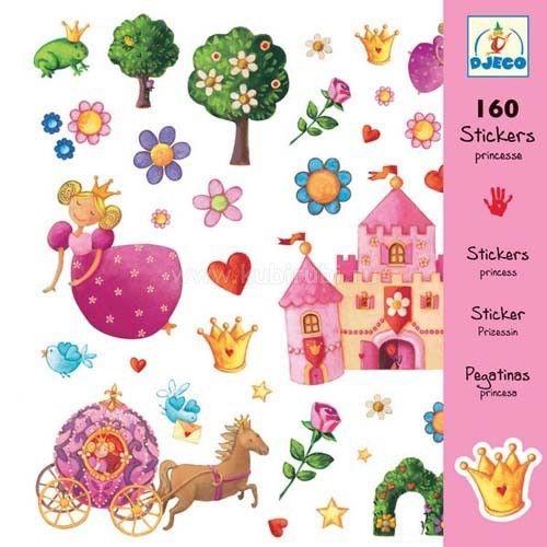 Набор наклеек «Принцессы» 160 шт.