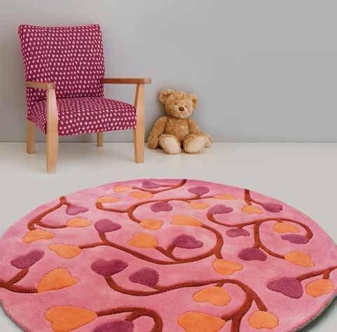 """Детский ковер """"Розовые цветы"""""""