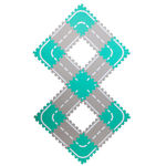 Набор мягких модульных плиток «Автодорога», 1,35 м2