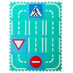 """Набор мягких модульных плиток """"Автодорога с дорожными знаками"""", 1,08 м2"""