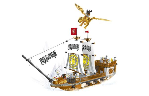 """Конструктор """"Пираты: Корабль """"Дракон """", 705 деталей"""