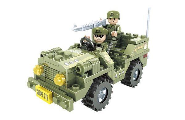 """Конструктор """"Армия: Джип с пулемётчиком """", 108 деталей"""