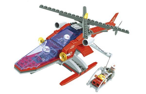"""Конструктор """"Пожарная бригада: Вертолёт со спасательной корзиной """", 208 деталей"""