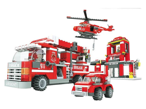 """Конструктор """"Пожарная бригада: Пожарная станция """", 697 деталей"""