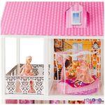 3-этажный кукольный дом с 5 комнатами (мебель и 5 кукол)