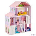 """Домик для Барби """"Фантазия"""" (19 предметов мебели, лифт, лестница, гараж)"""
