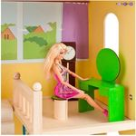 """Кукольный домик для Барби """"Лира"""" (мебель, 2 лестницы, гараж)"""