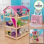 """Кукольный домик для Барби """"Самый роскошный"""" с мебелью, на колесиках"""