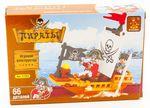"""Конструктор """"Пираты: Лодка с капитаном"""", 66 деталей"""