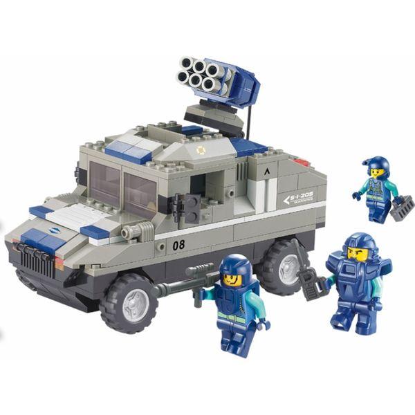 """Конструктор """"Военный спецназ: Бронетранспортёр на колёсах с ракетной установкой"""", 265 деталей"""