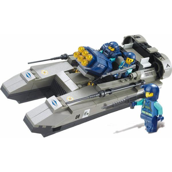 """Конструктор """"Военный спецназ: Лодка на воздушной подушке с ракетной установкой"""", 164 детали"""
