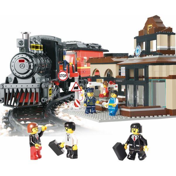 """Конструктор """"Железнодорожный вокзал: Скорый поезд"""" со свуком, светом"""
