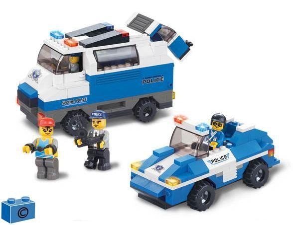 """Конструктор """"Полицейский спецназ: Броневик и джип"""", 337 деталей"""