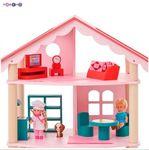 """Трехэтажный деревянный кукольный домик """"Роза Хутор"""" с мебелью"""
