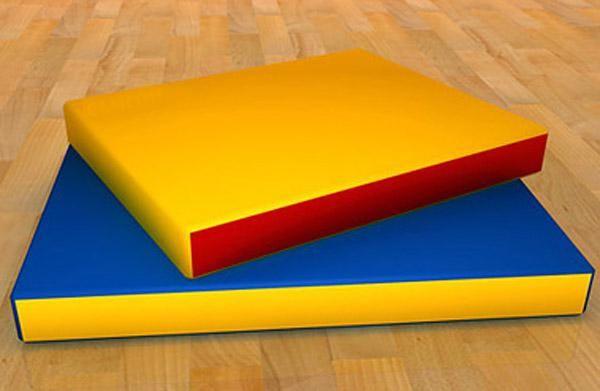 Детский цветной мат 1000х500х80 мм