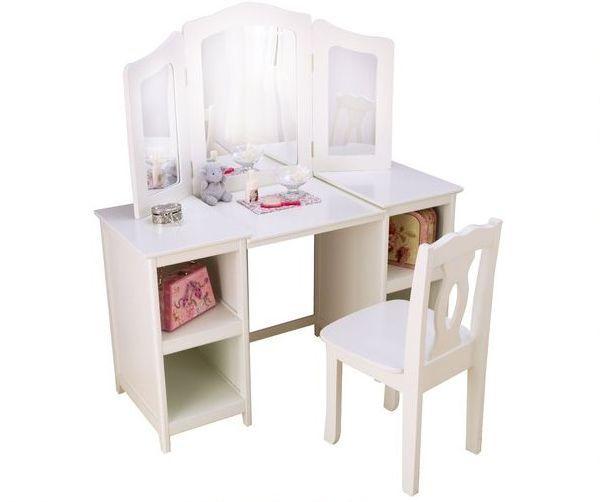 Белый деревянный туалетный столик «Делюкс»