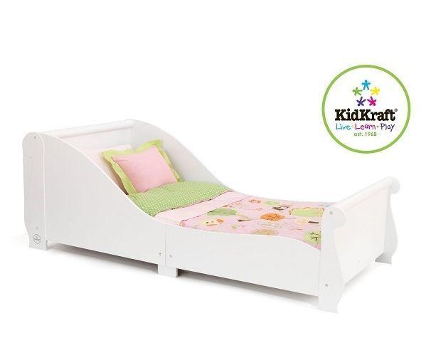 """Детская кровать """"Sleigh"""", белая"""