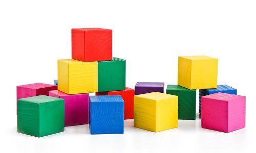 Кубики цветные, 20 шт