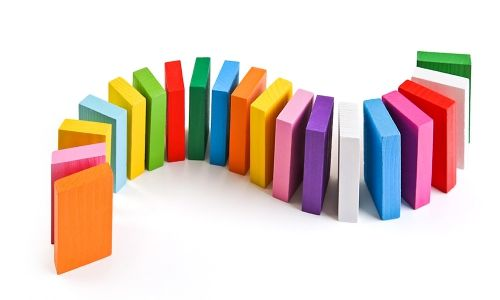 Плашки цветные деревянные