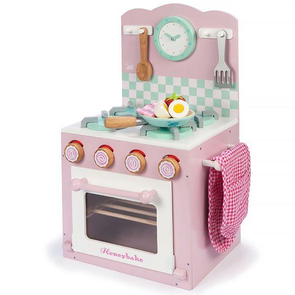 Кухонная плита розовая