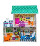 Бирюзовый кукольный домик для Барби, 90 см