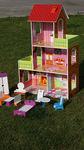 Красный кукольный домик для Барби, 130 см