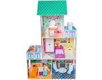 Бирюзовый кукольный домик для Барби, 130 см