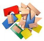 Конструктор деревянный цветной, 20 элементов
