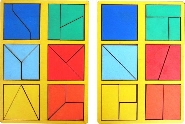 """""""Сложи квадрат"""" Б.П.Никитин 1 уровень (мини)"""
