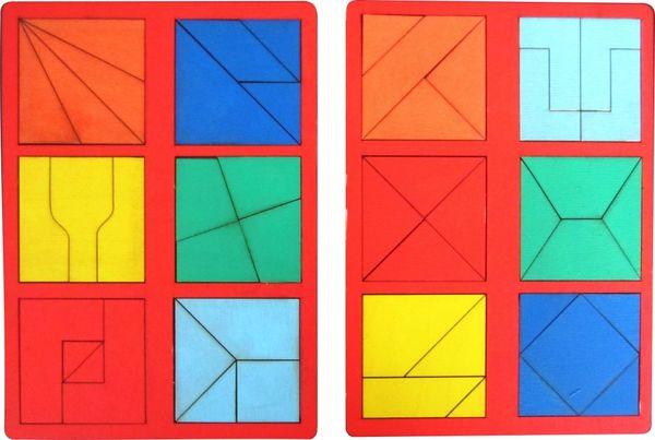"""""""Сложи квадрат"""" Б.П.Никитин, 2 уровень (мини)"""
