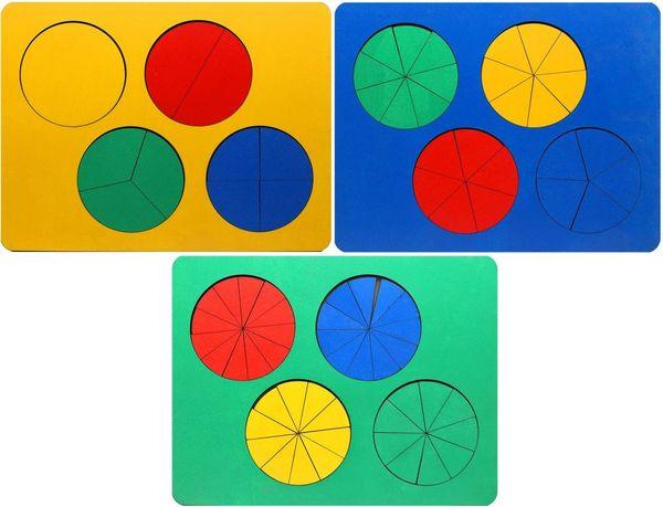 Дроби, набор из 3 уровней (Б.П.Никитин)