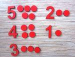 Кружки и цифры (деревянная коробка)