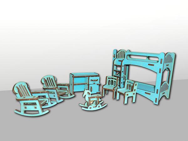 """Набор мебели для кукольного домика """"Детская"""", 7 предметов"""