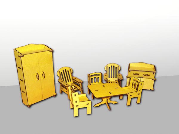 """Набор мебели для кукольного домика """"Зал"""", 8 предметов"""
