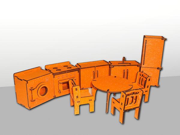 """Набор мебели для кукольного домика """"Кухня"""", 9 предметов"""