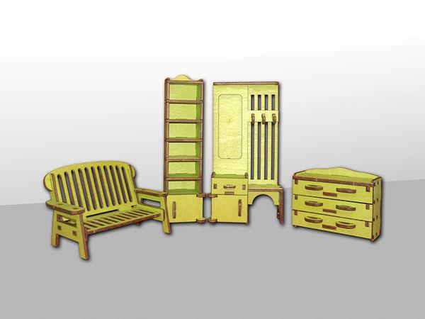 """Набор мебели для кукольного домика """"Прихожая"""", 4 предмета"""