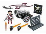 Пираты: Черная интерактивная пушка с морским пиратом