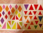 Ромбики и треугольнички. Набор наклеек