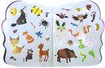Веселые животные: Лес. Многоразовые наклейки