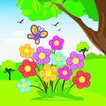 Цветы. Водораскраски-пазлы