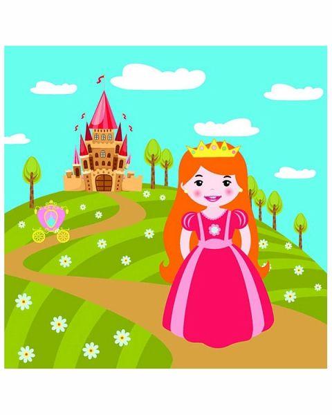 Принцесса. Водораскраски-пазлы