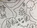 """Напольный пазл-раскраска """"Удивительный лес"""", 98х68 см"""