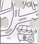 """Напольный пазл-раскраска """"Большой город"""", 98х68 см"""
