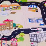 """Игровой коврик-пазл с дорогами """"Город-2"""", 0,81 м2"""