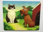 """Мягкие магнитные пазлы """"Кошечка и собачка"""""""