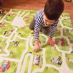 """Игровой коврик-пазл с дорогами """"Город-1"""", 0,72 м2"""