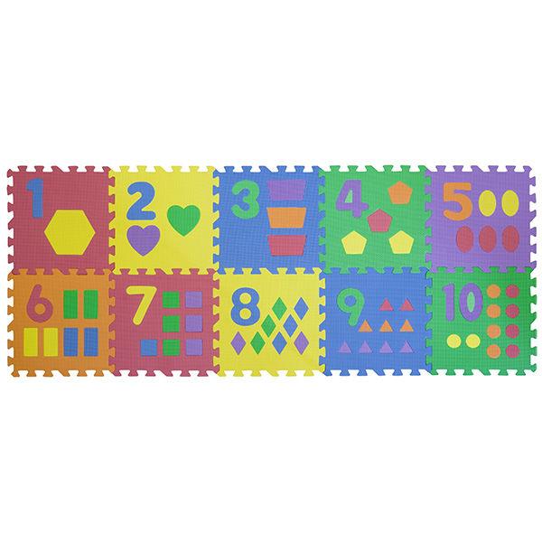 """Игровой коврик-пазл """"Цифры с фигурами"""", 0,9 м2"""