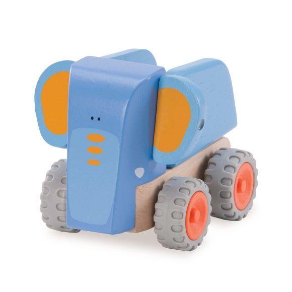 """Деревянная игрушка-каталка """"Самосвал-Слоненок"""""""