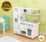 Детская кухня из дерева «Винтаж» белая