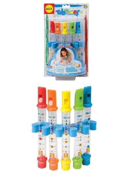 """Игрушка для ванной """"Водяные флейты"""" с цветными нотами"""